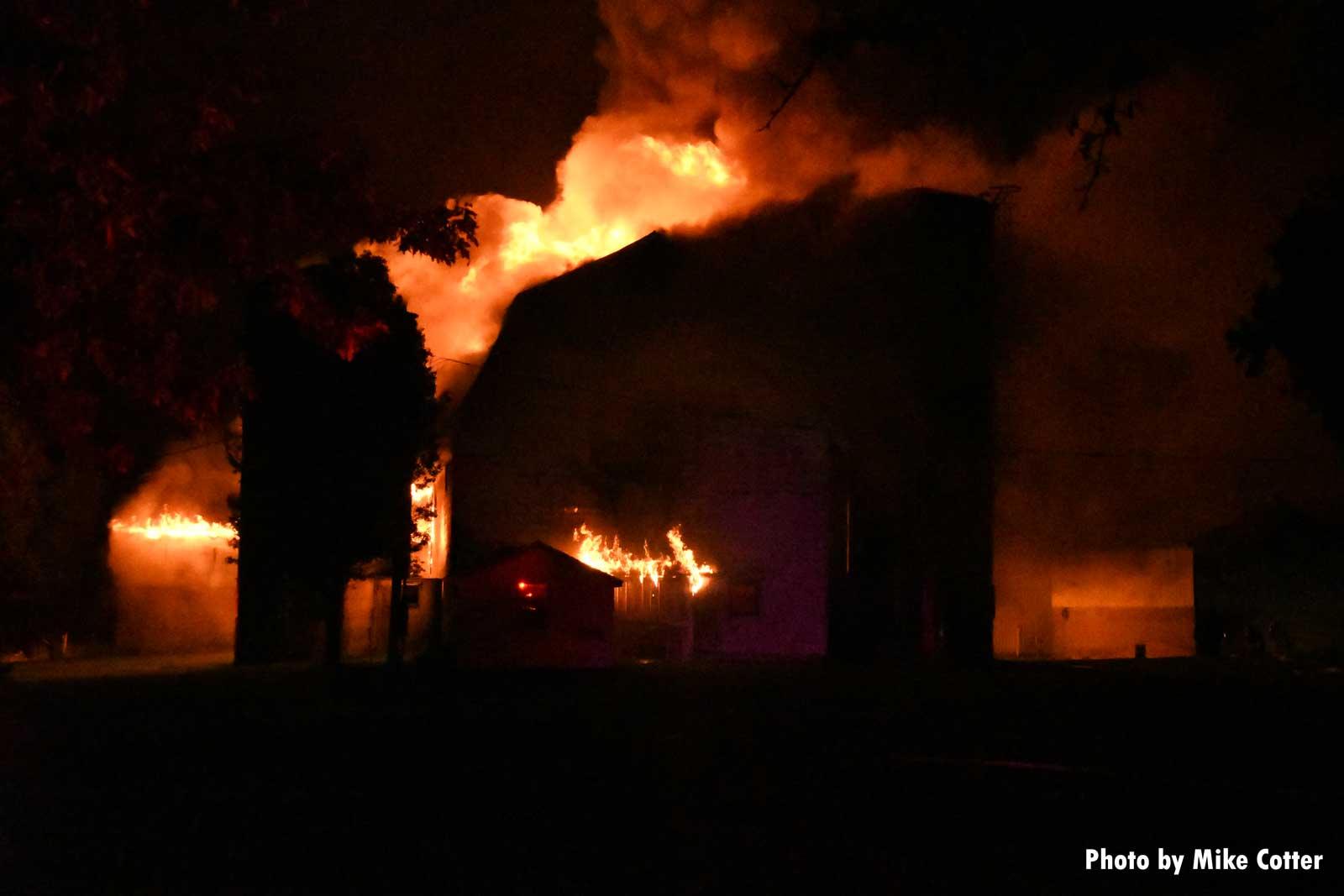 Barn fire in Wisconsin