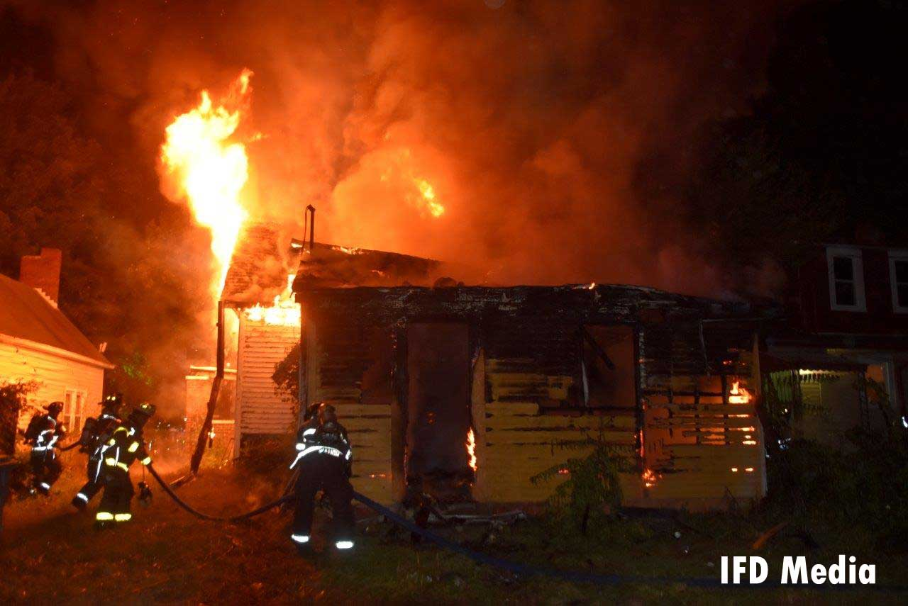Indianapolis firefighters respond to a raging arson fire