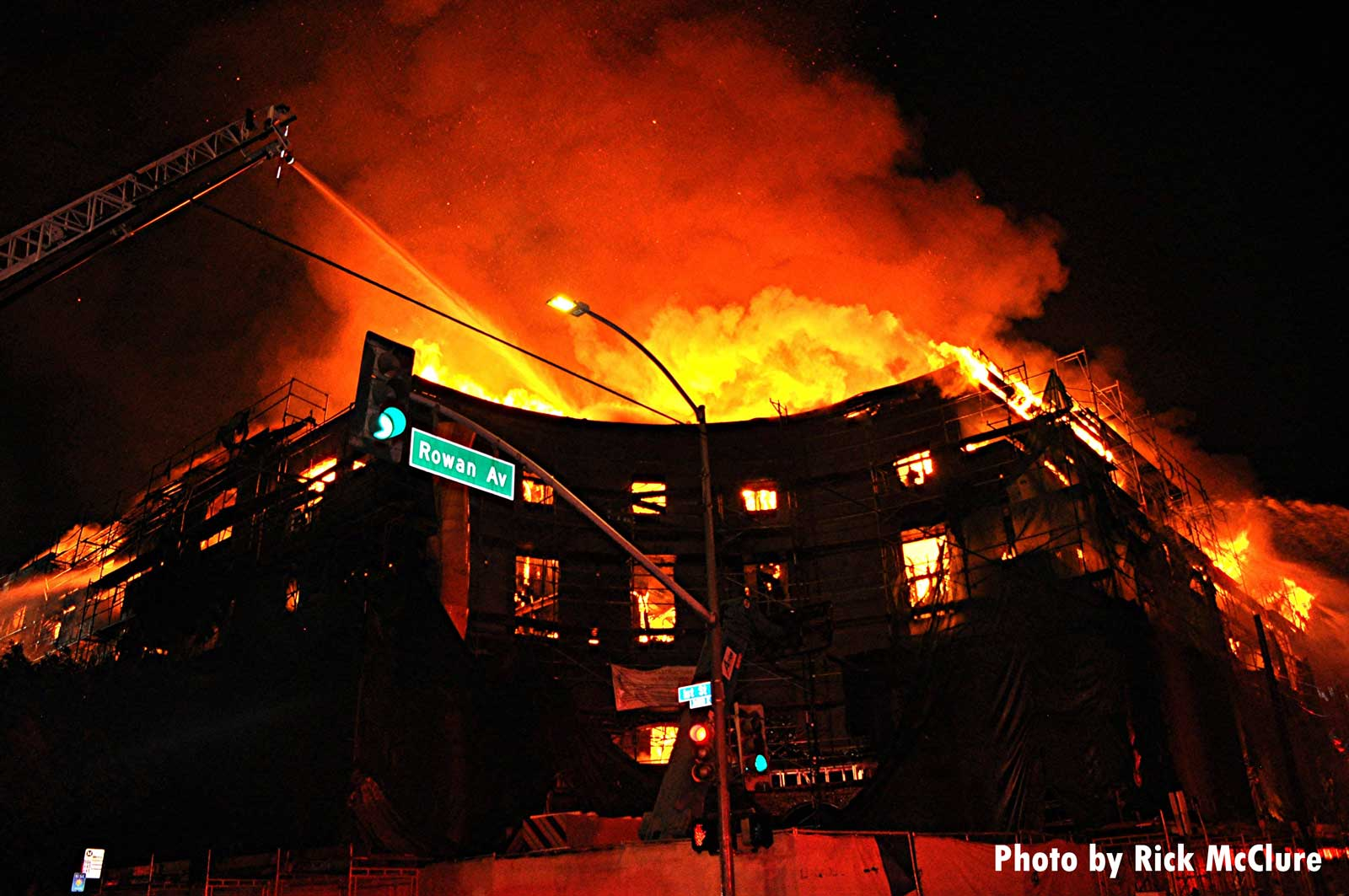 Massive fire in East L.A. housing complex