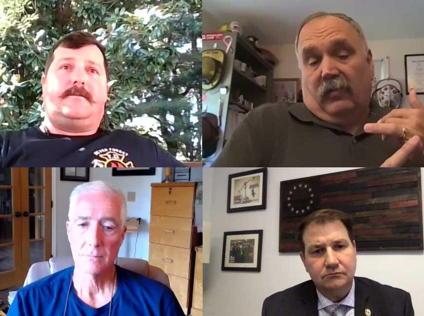 Sam Villani, Nick DeLia, Frank Ricci, and Bobby Halton