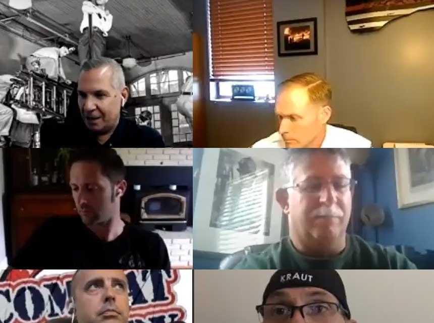 Ricky Riley, Aaron Heller, and company talk drills