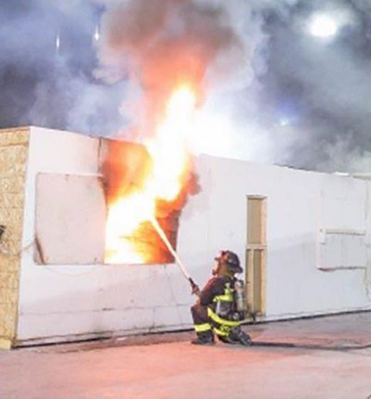 Example of transitional fire attack.