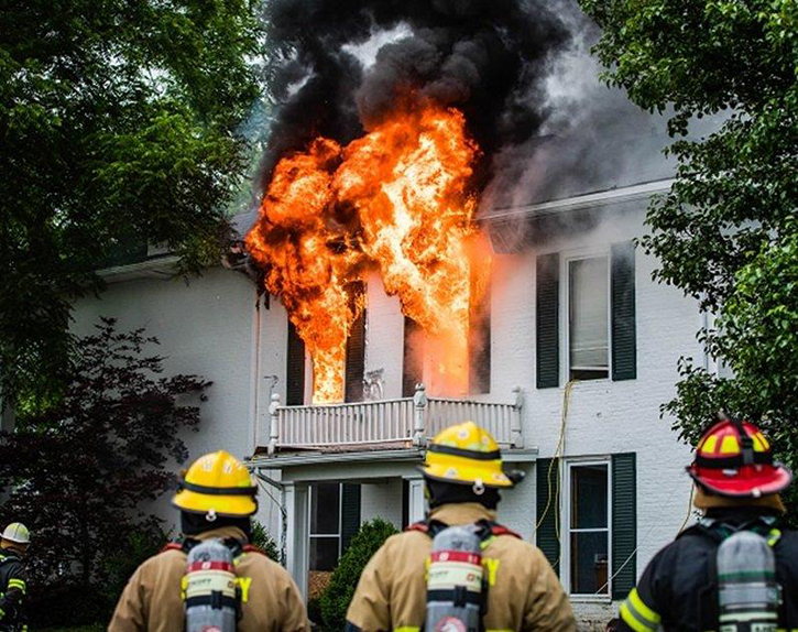 Consider an initial transitional attack and eaves attack to gain knockback, to cool the compartment, and to slow or stop fire travel into the attic through the soffit.
