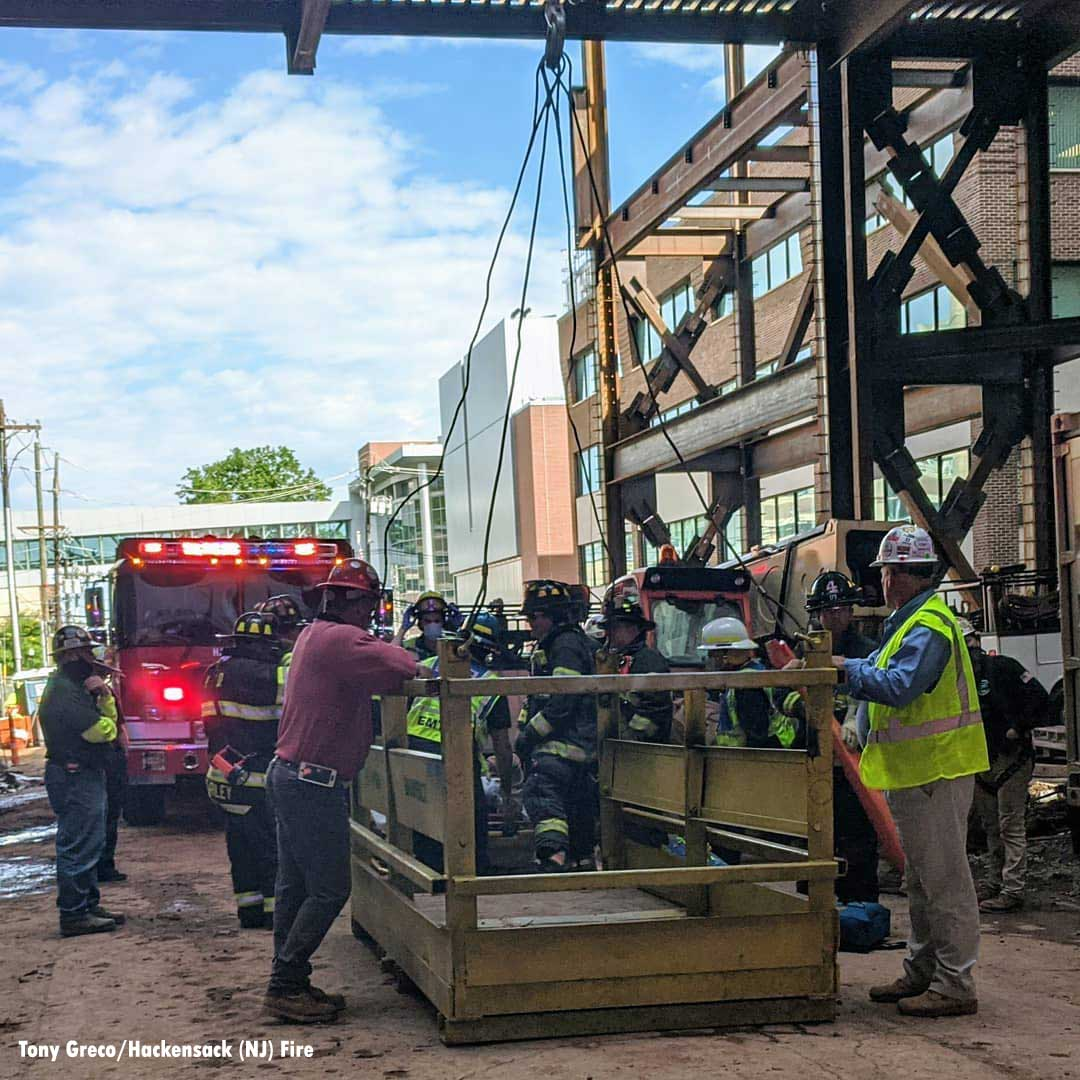 Construction site rescue in Hackensack