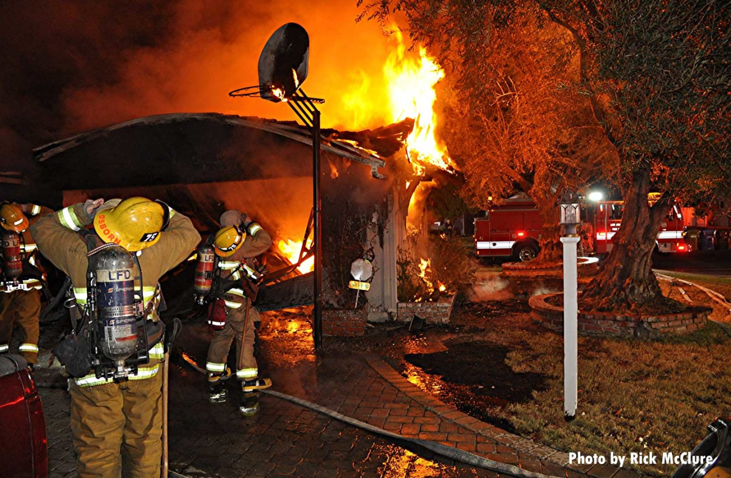 Multiple City of Los Angeles firefighters at structure fire