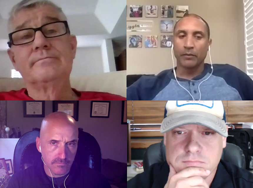 Bill Gustin, Darryl Liggins, Dan Shaw, and Sam Hittle