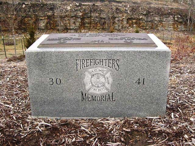 Kansas City MO firefighter LODD memorial