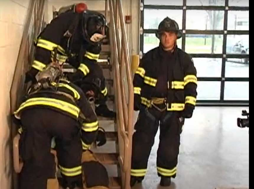 Dan DiRenzo on removing a down firefighter via interior stairs