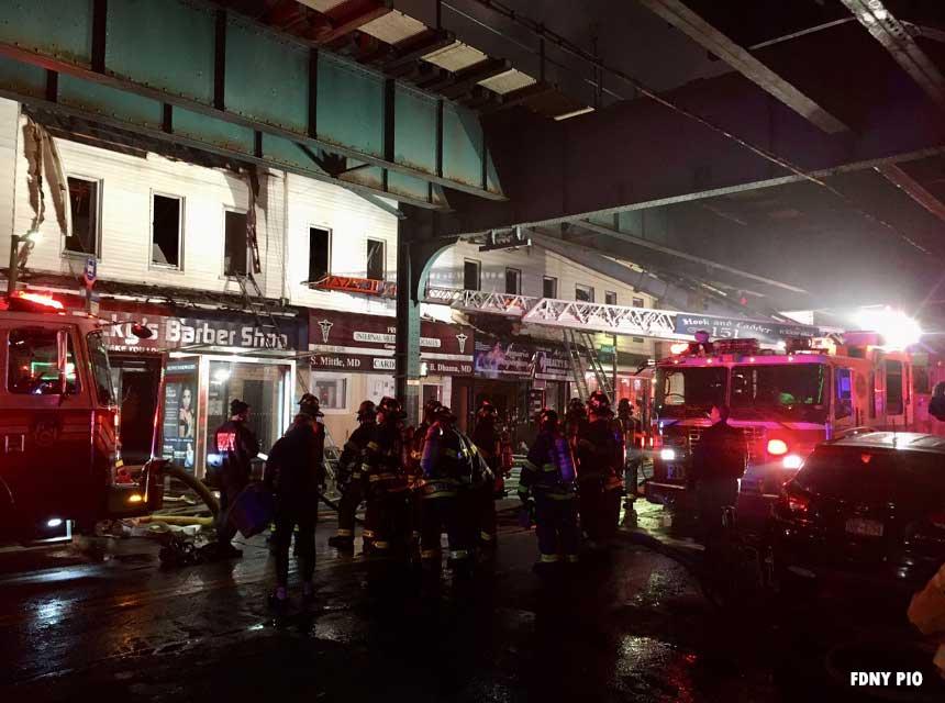 FDNY firefighters battle six-alarm Queens fire
