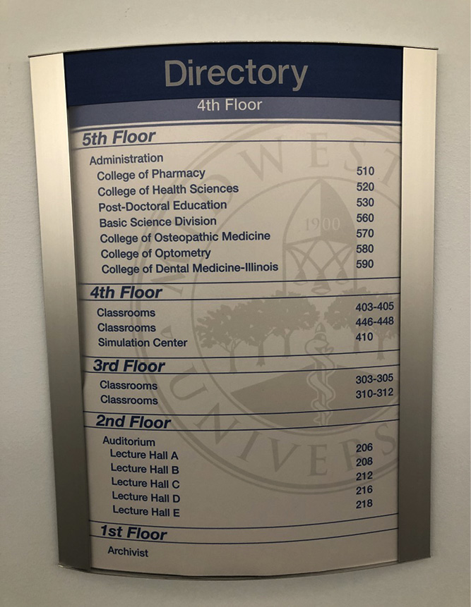 In the RIT size-up, note the building's directory or take a picture of it with a camera phone if you are unable to remove it. This can help to narrow the search for a down firefighter.