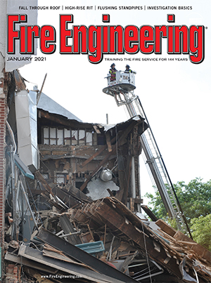 FDNY firefighters at scene of collapse