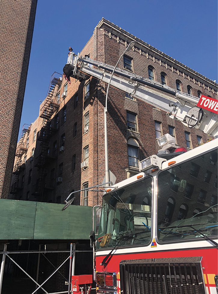 Drilling has to be realistic; flying a tower ladder only in a parking lot doesn't make a good operator. Flying around obstacles such as streetlights and down alleyways makes firefighters more experienced with their apparatus and fire district.