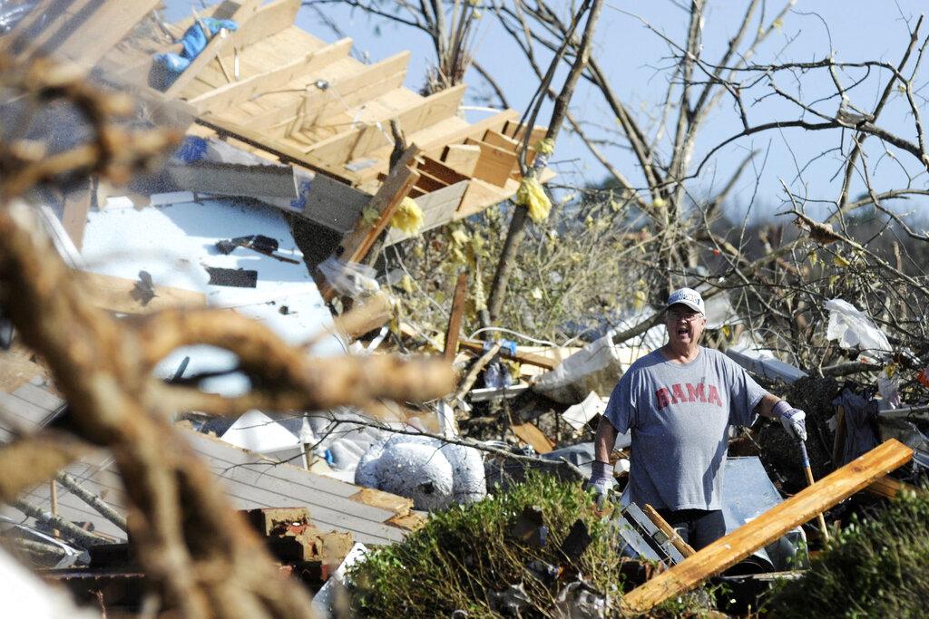 Alabama tornado damage