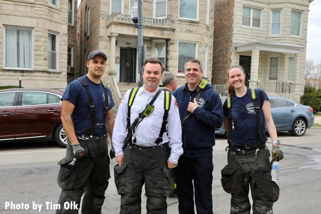 A group of Chicago firefighters