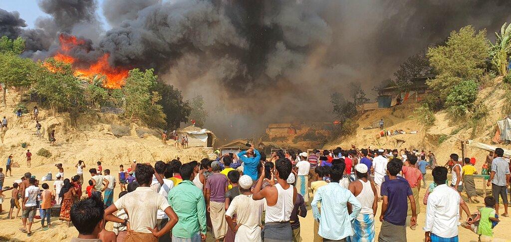 Fire at Bangladesh refugee camp