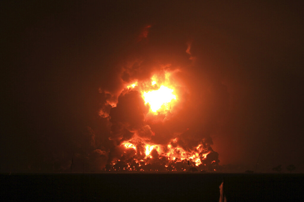 Indonesia oil refinery explosion