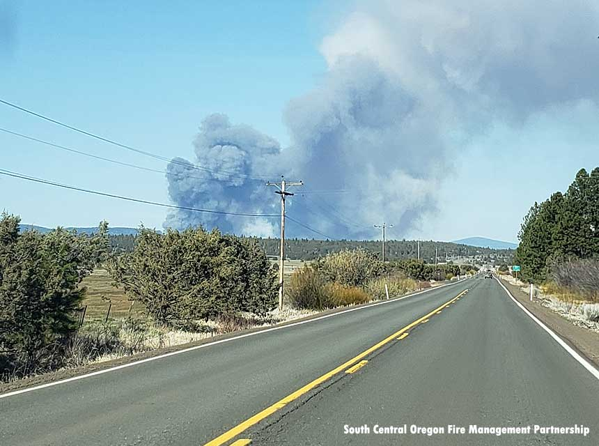 Ponina Fire in Oregon