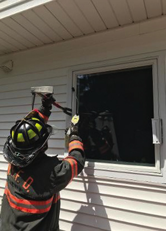 Crack a window or door and use your explosive gas detector to determine if natural gas or propane has been released into the locked building.