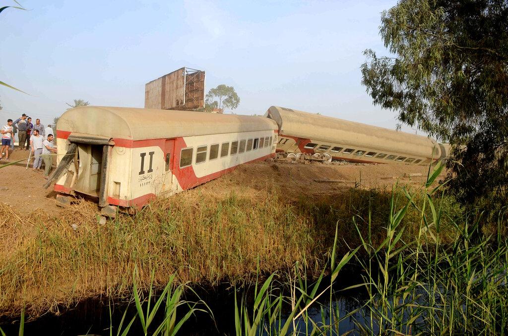Egypt train derailment