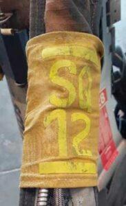 SCBA shoulder strap identifier