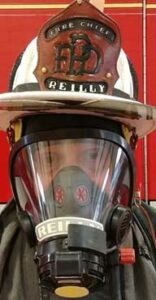 SCBA markings and helmet shield with ID