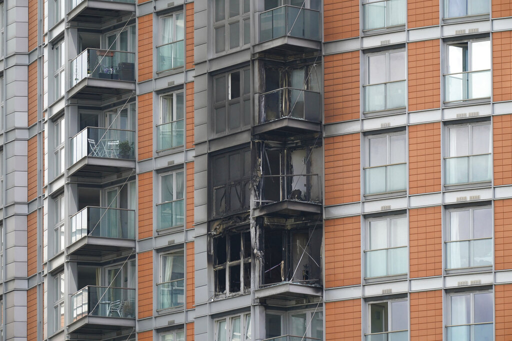 High-rise fire in London