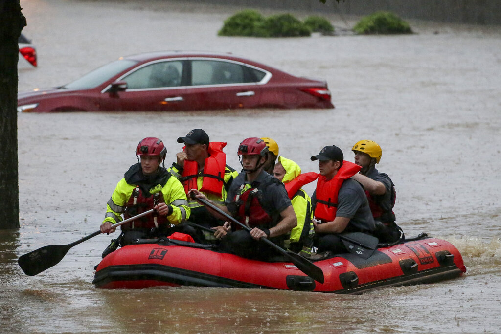 Residents rescued during floods in the South