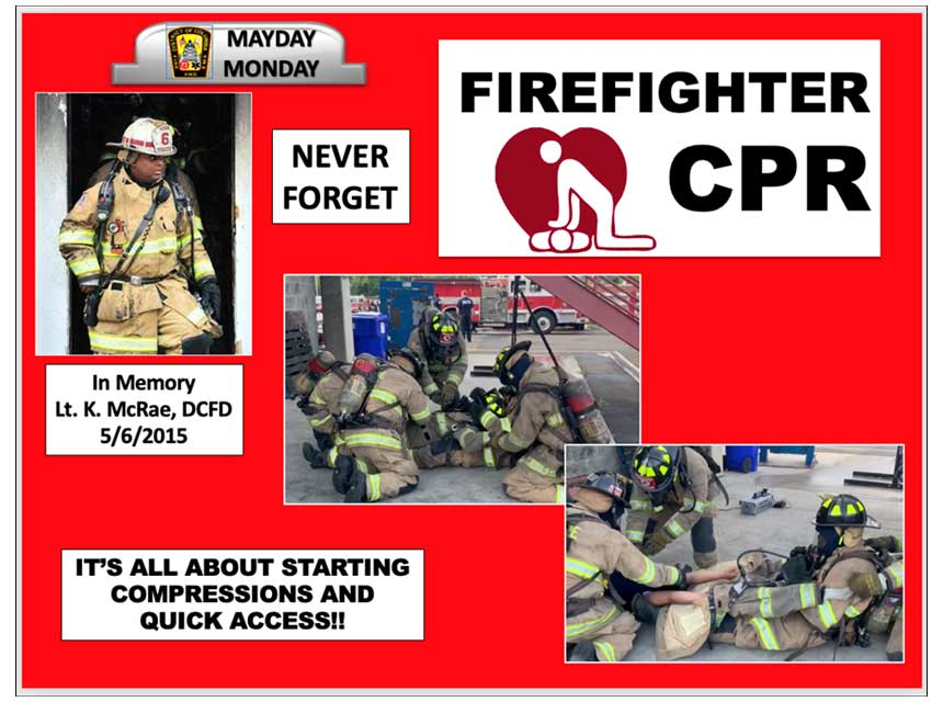 Mayday Monday on firefighter cpr