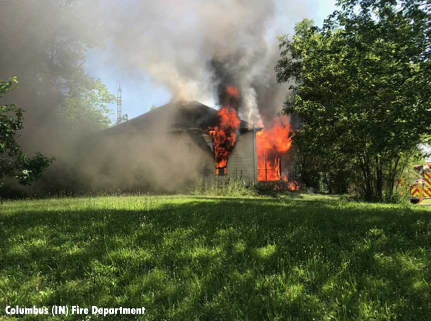 Columbus firefighters made rescue from burning home