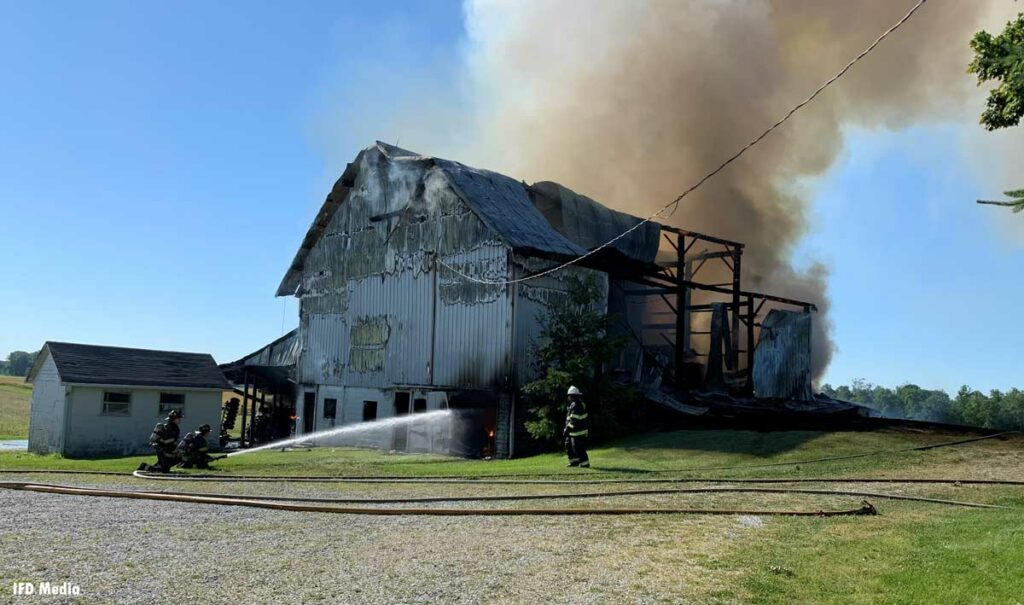 Smoke rises from barn in Indianapolis