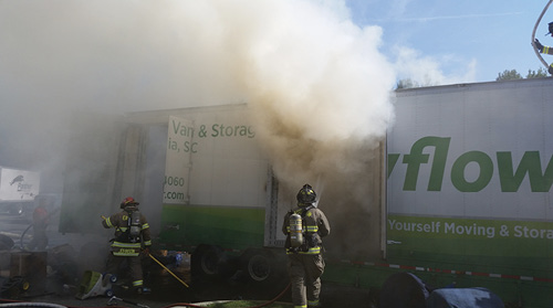 An 18-wheeler fire will pose significant challenges, since for many departments such fires occur quite infrequently. They are difficult to train for, primarily because of a lack of realistic props, so developing and maintaining skills regarding fire attack operations using high-flow, 2½-inch lines or single-inlet monitors will provide a basic level of skills that can translate into other significant fire operations including public assembly and commercial building fire operations.