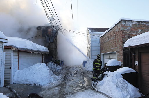 An example of just how high the snow was in the area of the alley. This is a defensive attack from the C/D section of the building.