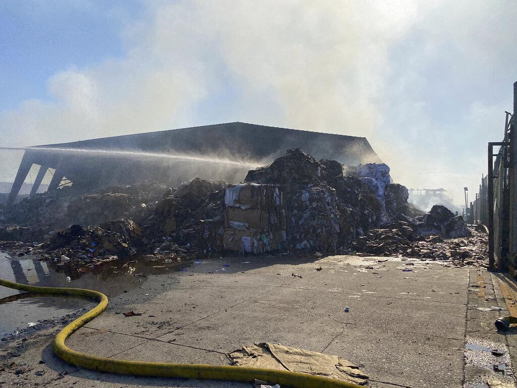 Phoenix recycling fire