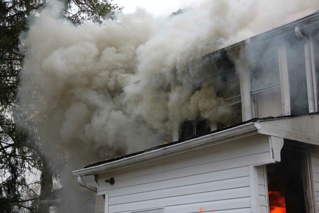 Smoke emerging from home
