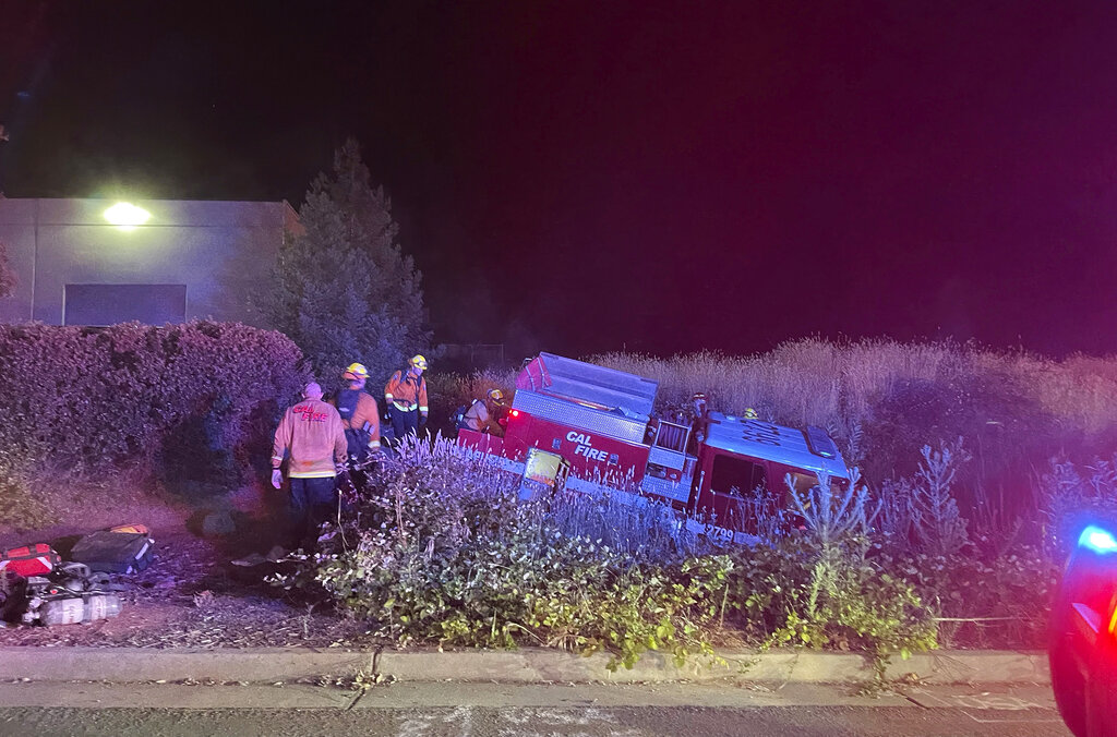 CAL Fire truck crash