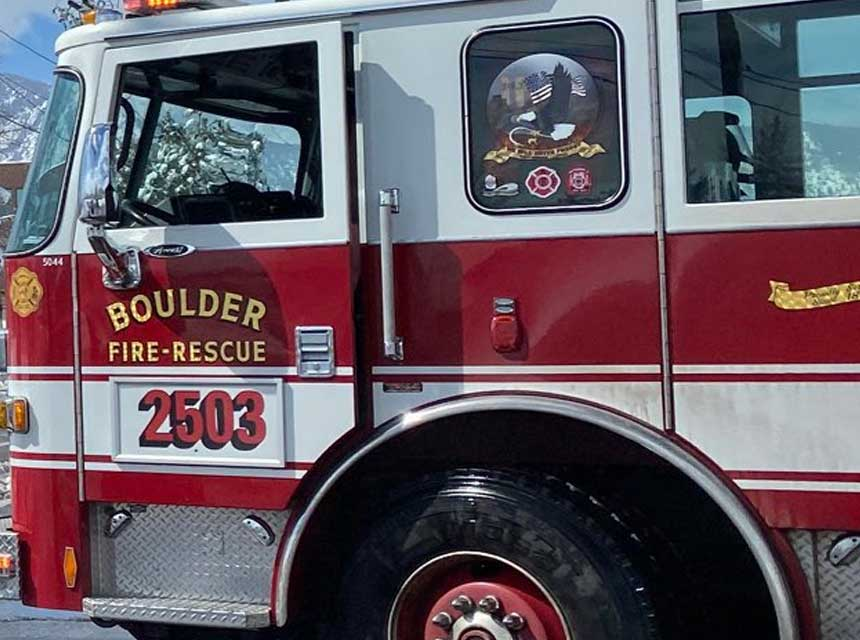 Boulder CO Fire Rescue apparatus
