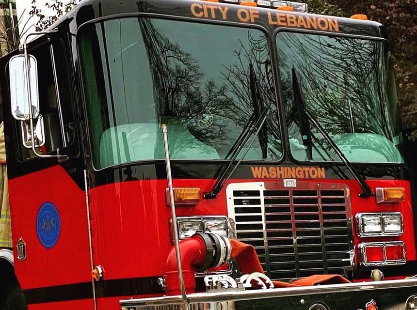 Lebanon City PA fire truck