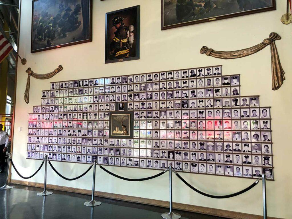 Wall of 343 Fallen FDNY Firefighters of 9-11 inside The Rock