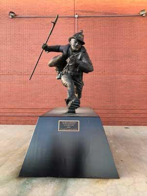 Steven Siller statue at The Rock