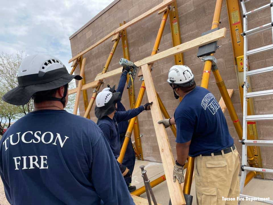 Tucson firefighters and other area crews participate in structural collapse training
