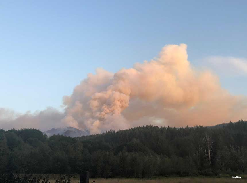 View of Gales Fire from West, August 18th 2021