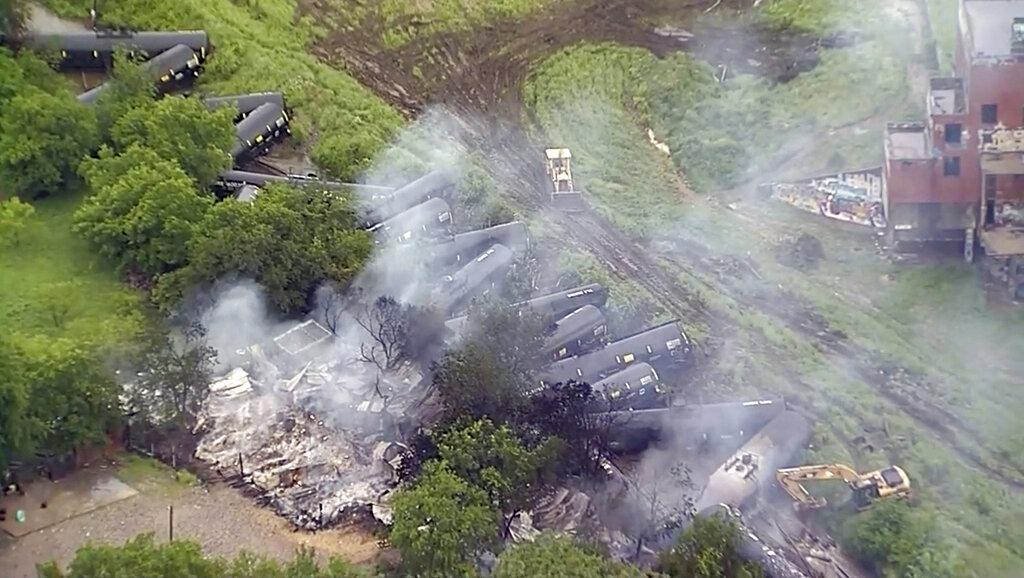 Texas train derailment