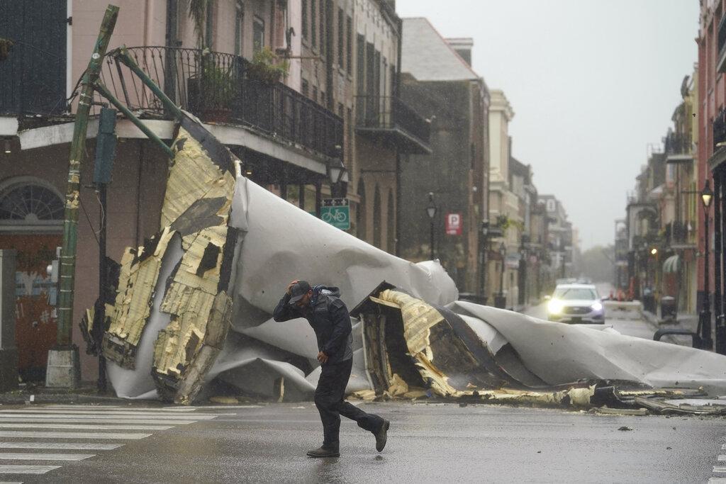 French Quarter and Hurricane Ida