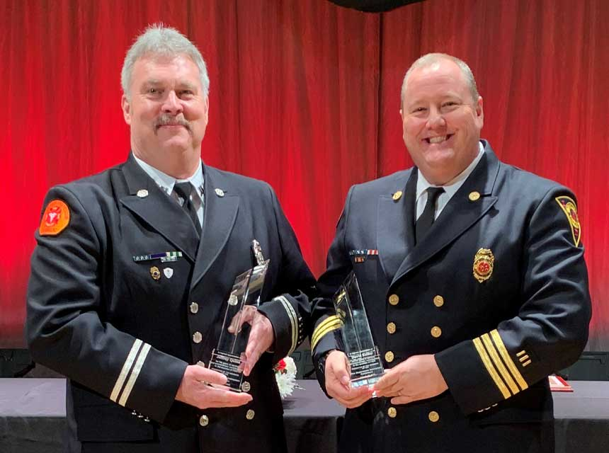 FDIC 2021 service award recipients David Kelley and Jeff Quinn