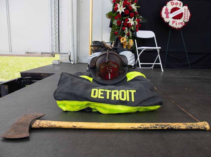 Memorial for Fallen Detroit Sgt Sivad Johnson