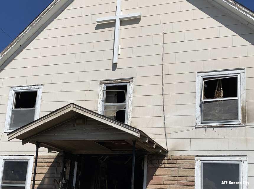 Harlem Baptist Church fire Kansas City Missouri