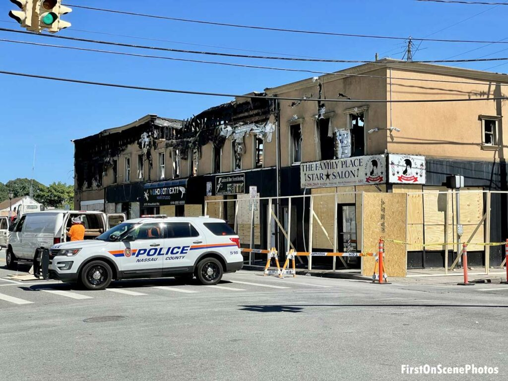 Damage to store in Lakeview, New York