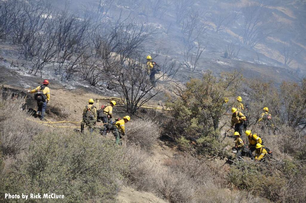 Firefighters operate at Emigrant Fire