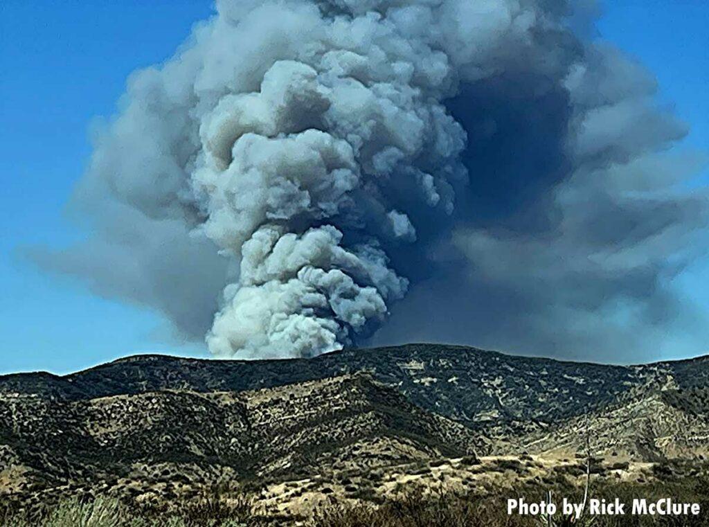 Smoke from wildland fire