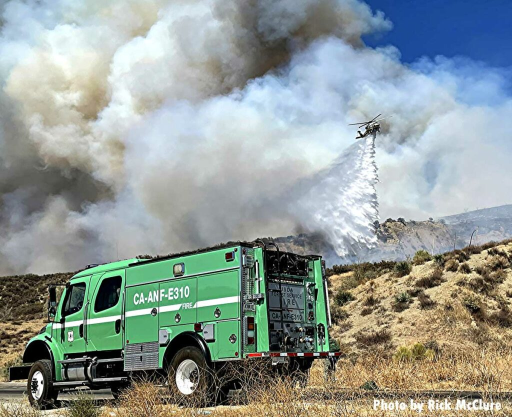 USFS fire apparatus and copter